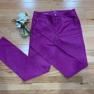 LOFT skinny wale, modern straight corduroy pants